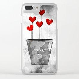 Heart Pot Clear iPhone Case