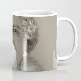 Queen Elizabeth II Blowing White Bubble Gum Coffee Mug