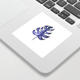 Blue Monstera leaf Sticker