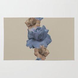 Glitch Roses Gold Rug