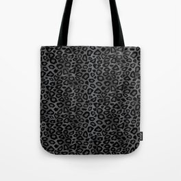Gray and Black Exotic Leopard Animal Pattern Tote Bag