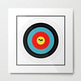 Marksman Target Grouping Metal Print