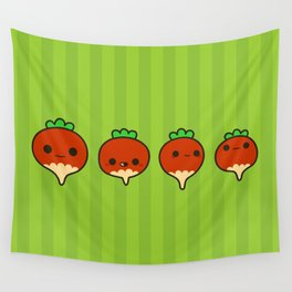 Cute radishes Wall Tapestry