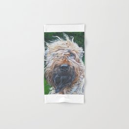 Soft-coated Wheaten Terrier from an original painting by L.A.Shepard Hand & Bath Towel