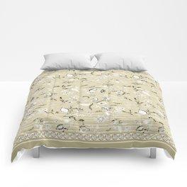 Paisleys in Biege - by Fanitsa Petrou Comforters