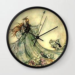 """""""Queen of the Fairies"""" by Arthur Rackham Midsummer's Night Wall Clock"""