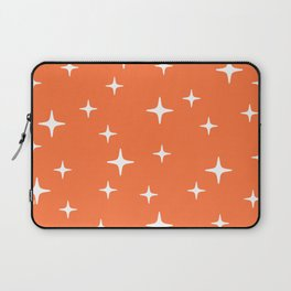 Mid Century Modern Star Pattern 443 Orange Laptop Sleeve