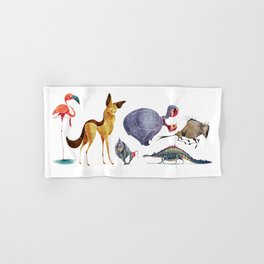 African animals 3 Hand & Bath Towel