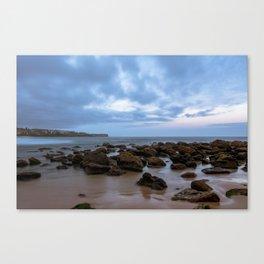 Rocks at the beach Canvas Print