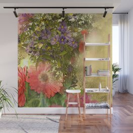 Floral Collage  Wall Mural