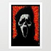 scream Art Prints featuring Scream by brett66