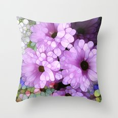 Daisies from the Galaxy Throw Pillow