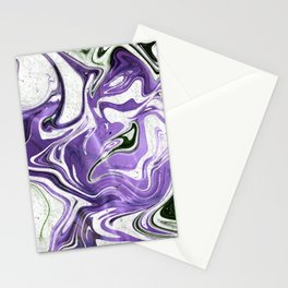 Ultraviolet Marble Stationery Cards