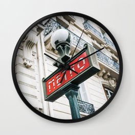 Paris Metro Sign Wall Clock