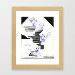 dimension swim Framed Art Print