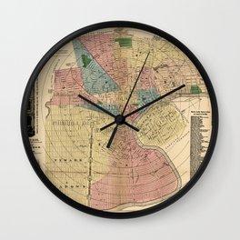Map Of Newark 1876 Wall Clock