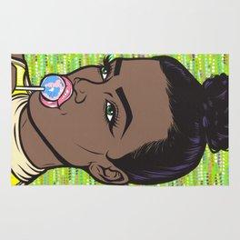 lollipop comic girl Rug