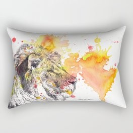 Lion Portrait Painting Rectangular Pillow