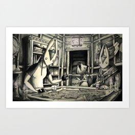 PITCHER MAKES PLANS Art Print