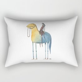 Numero 1 -Cosi che cavalcano Cose - Things that ride Things- NUOVA SERIE - NEW SERIES Rectangular Pillow