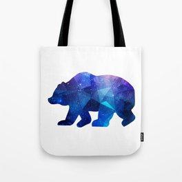 BEAR POLYGONAL SPACE Tote Bag