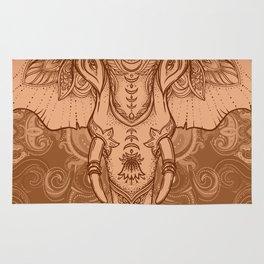 Sepia Ganesha Rug