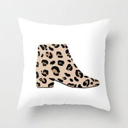 Leopard Boot Fashion Throw Pillow