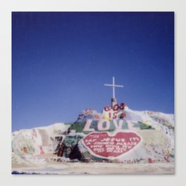 Salvation Mountain Cheki Canvas Print