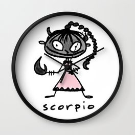 cuteness sprinkled with a dash of scary, because...well, scorpio Wall Clock