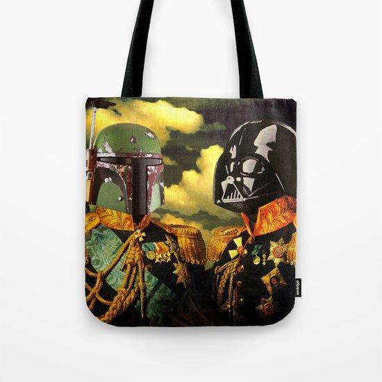 Portrait of Boba Fett & Lord Vader Tote Bag