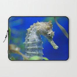 Awesome, Lyrical Sea Horse In Elegant Waters Laptop Sleeve