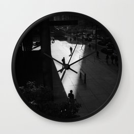 In Shapes we Sigh Wall Clock