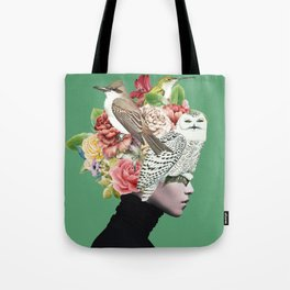 Lady with Birds(portrait) 2 Tote Bag