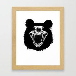 Bear Skull Shadow Outdoor Hunting Framed Art Print