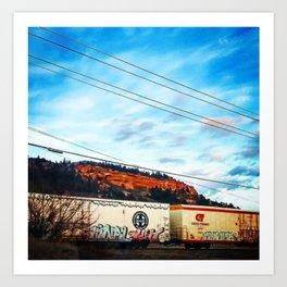 Graffiti and Lines Art Print