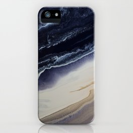 Marble in Blue and Ivories iPhone Case