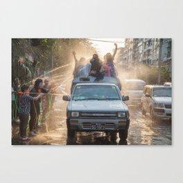 celebrating thingyan | myanmar Canvas Print