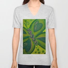 Fluttering Heart Unisex V-Neck