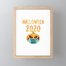 Halloween Pumpkin Face Mask Stay  Feet Fun Quarantine  T Shirt Framed Mini Art Print