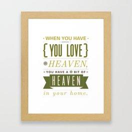 Someone In Heaven-GREEN Framed Art Print