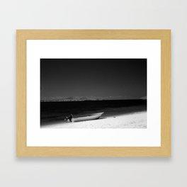 Boat on a beach in Fiji Framed Art Print