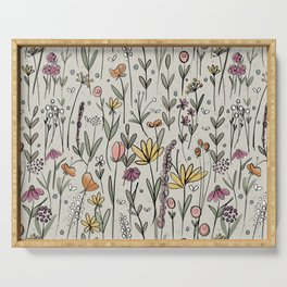 Watercolor Meadows Serving Tray