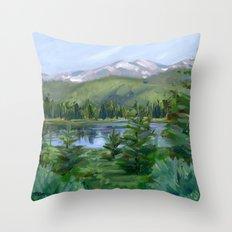 Echo Mountain Lake Throw Pillow