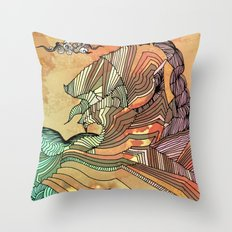 Wave of Thought Throw Pillow