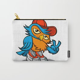 owl cartoon in hip-hop hat. Carry-All Pouch
