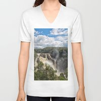 geology V-neck T-shirts featuring Beautiful Barron Falls by Wendy Townrow