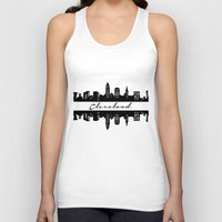 cleveland Tank Tops featuring Cleveland Skyline by Madison Asher