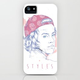 STYLES - Pink floral Hat iPhone Case