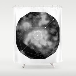 VISION CITY - FOCUS ON THE GOAL Shower Curtain