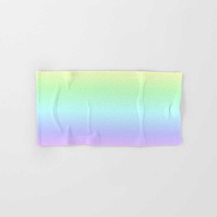 Soft Pastel Rainbow Hand & Bath Towel